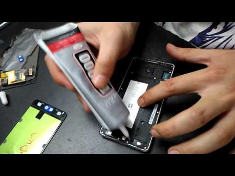 Samsung Galaxy A5 A500f Assembly How To Attach And Glue The LCD Assembly Tutorial
