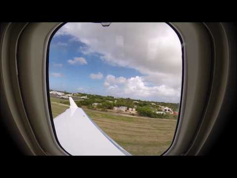 Bombardier Challenger 300 Cabin view Takeoff Anguilla Island AXA