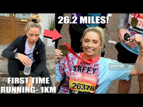 My marathon experience 😭 How I went from not being able to run TO running the LONDON MARATHON!!