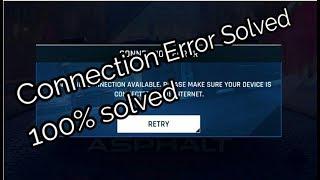 [FIX] Asphalt 9 Legends !! Connection Error !! Problem solved !! 100% work