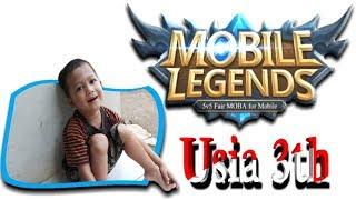Download Video Usia 3 tahun lihai main GAME Mobile Legends ( ML ) MP3 3GP MP4