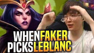 Faker Destroying with Leblanc! - When Faker Picks Leblanc Mid!   SKT T1 Replays