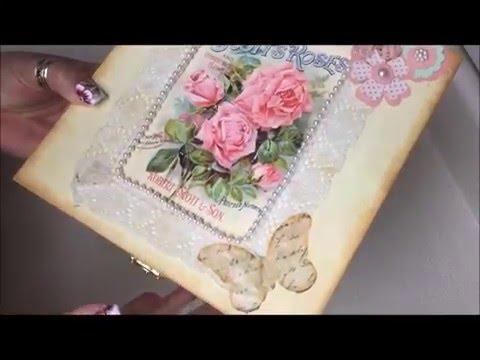 Diy decoracion de cajita vintage para el dia de las madres - Decoracion dia de la madre ...