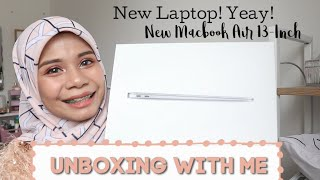 Unboxing New Macbook Air 13inch With Me