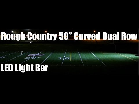 Rough Countryu0027s 50 Inch Cree Curved Dual Light Bar Review And Tutorials Via  SDTrucksprings.com