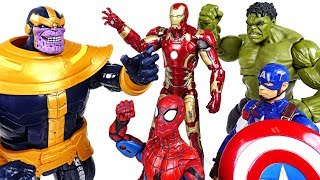 Thanos appeared! Go! Marvel Avengers Infinity War: Hulk, Spider Man, Iron Man! - DuDuPopTOY