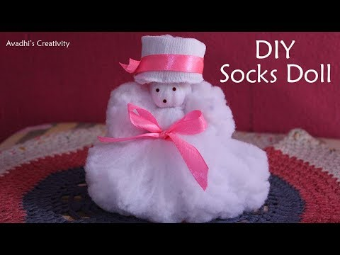 How to make Doll from Socks-Socks Doll-Craft idea using Socks-Best use of waste socks