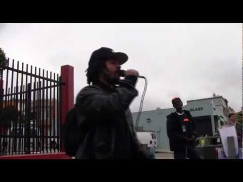 Shango Abiola - Black Riders Liberation Party - Kenneth Harding Shutdown Day Vigil
