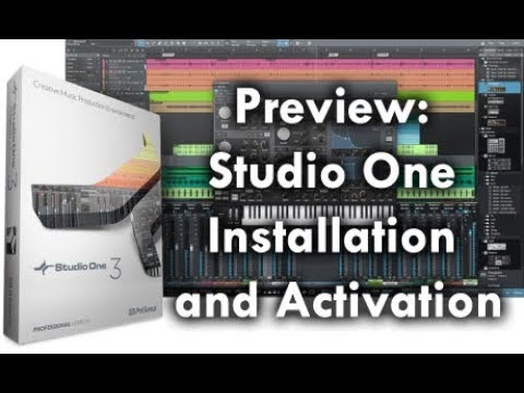 Preview: Studio One Activation & Installation