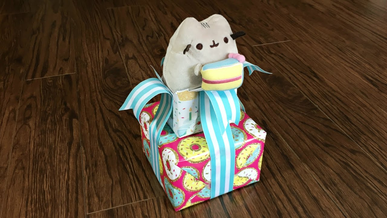 Pusheen The Cat Birthday Gift Wrapping Idea