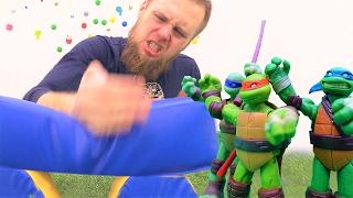 Видео для мальчиков: игры Черепашки ниндзя! Фабрика героев.