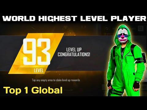 Level Up 93 🔥 | World Highest Level Player in Free Fire Battlegrounds.