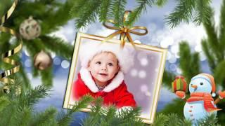 """Новогоднее слайд шоу """" Снежинка"""". Видео клип из фото. Изготовление на заказ."""