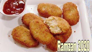 Potato Nuggets Recipe  Crispy Potato NuggetsPotato Snacks Recipe Veg Iftar RecipeRamadan Special