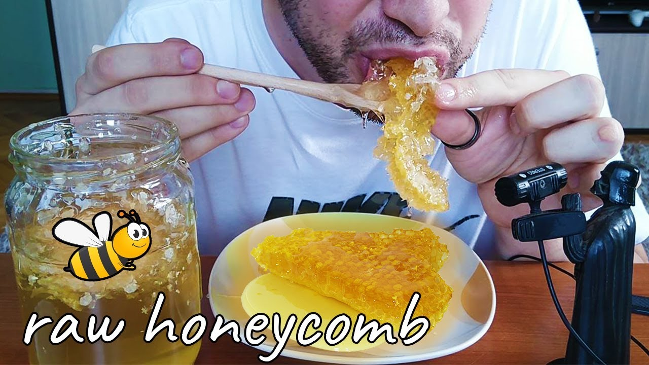 Asmr Eating Raw Honeycomb From Serbia Extreme Sticky Sounds No Talking