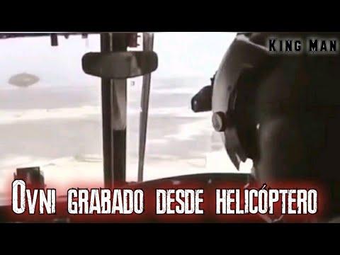 OVNI grabado desde la cabina de un helicóptero, video viral