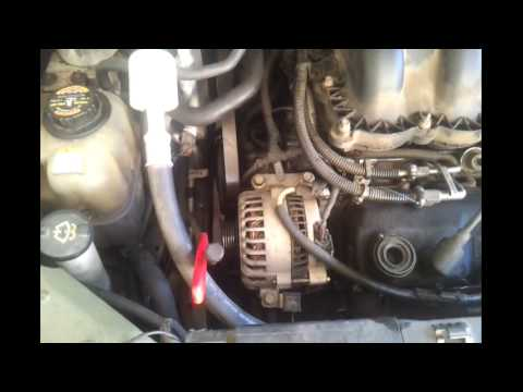 remove  alternator  ford windstar youtube