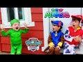 PJ Masks GEKKO Tricks PAW PATROL Huge Wooden Playhouse with Pikmi Pops!