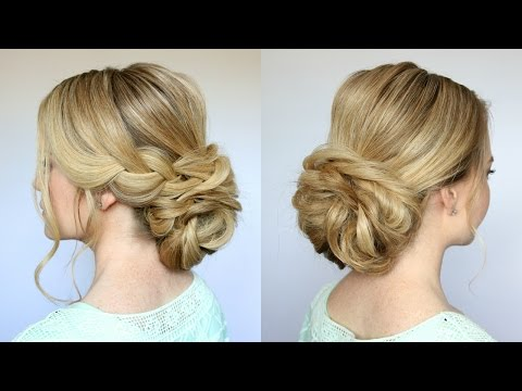 Low Bun Updo Hairstyle