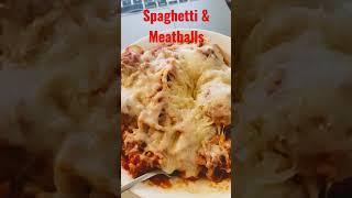 Homemade Spaghetti and Meatballs #Shorts