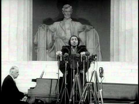"""Marian Anderson Sings at the Lincoln Memorial"" Newreel Story"