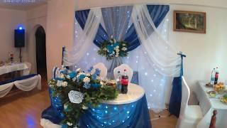 Как оформить свадьбу. Свадьба в синем. Свадебное оформление