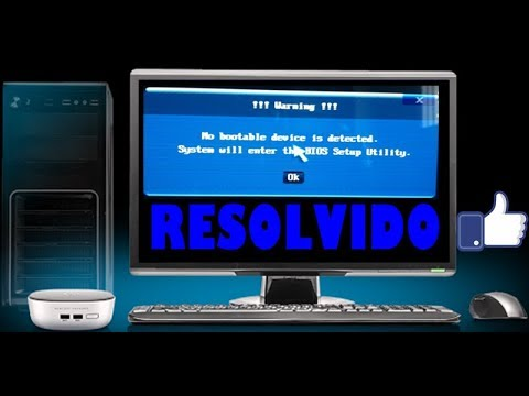 No bootable device detected system will enter bios setup utility -  RESOLVIDO / FIX -