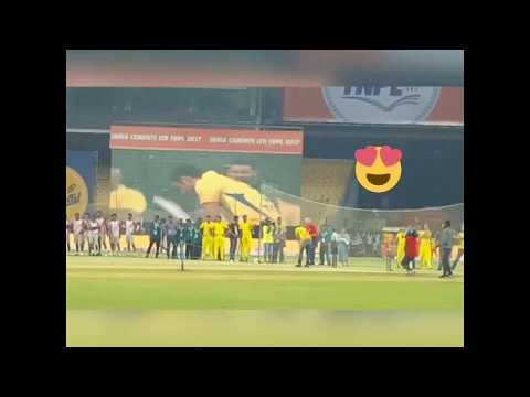 Dhoni in TNPL Opening Ceremony Hitting Consecutive Sixes | MSD | MS Dhoni