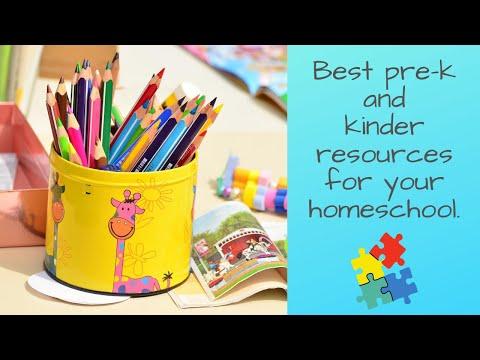 Best pre-K and kindergarten resources and curriculum for your homeschool.