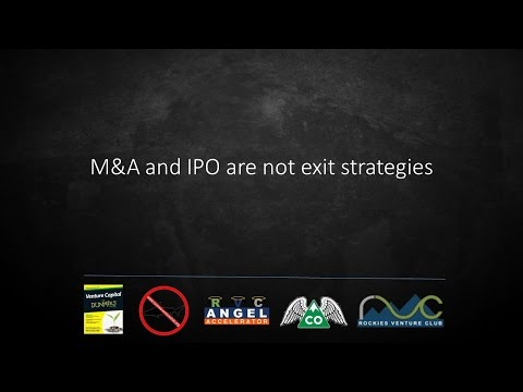 M&A and IPO are NOT Startup Exit Strategies