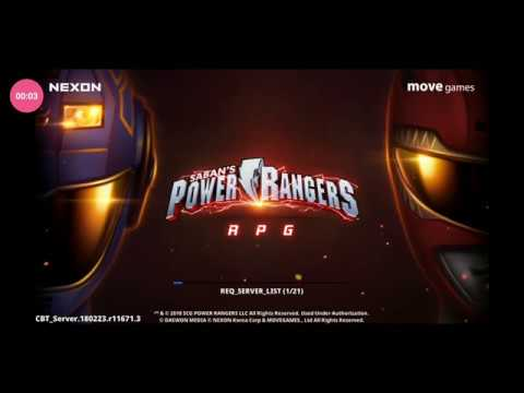 NEW Power Rangers RPG Mobile Game - Intro Screen And 3D Menu Screen