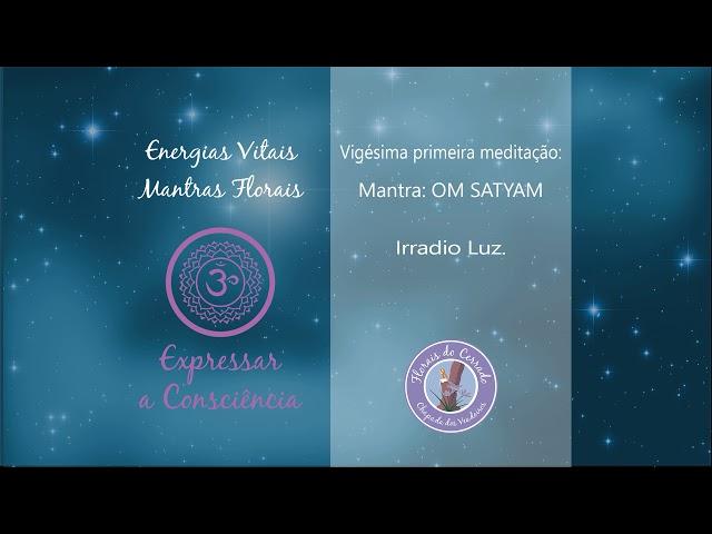 21° Meditação -  Expressar a Consciência