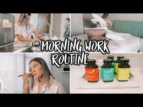 MY MORNING WORK ROUTINE + HUM Nutrition Giveaway!}