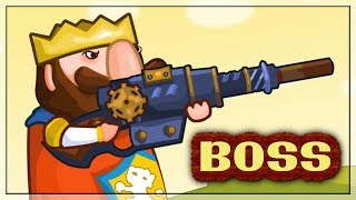 How To Become a King of Shooters? Fast Fight with Boss in Steam King
