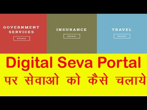 How To Use Services On Digital Seva Portal?fully Guide