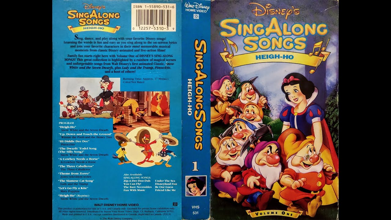 Closing To Disney S Sing Along Songs Heigh Ho 1993 Vhs Youtube