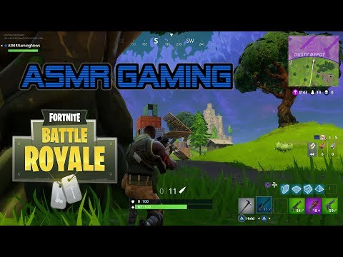 ASMR Gaming | Fortnite Battle Royale Learning To Build ★Controller Sounds + Soft Spoken Whispering☆