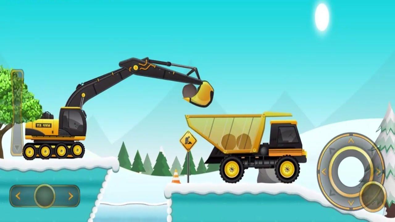 Mainan Bulldozer Excavator Dump Truk Dan Truk Molen Bego Permainan Kartun Untuk Anak Anak Part 7 Youtube