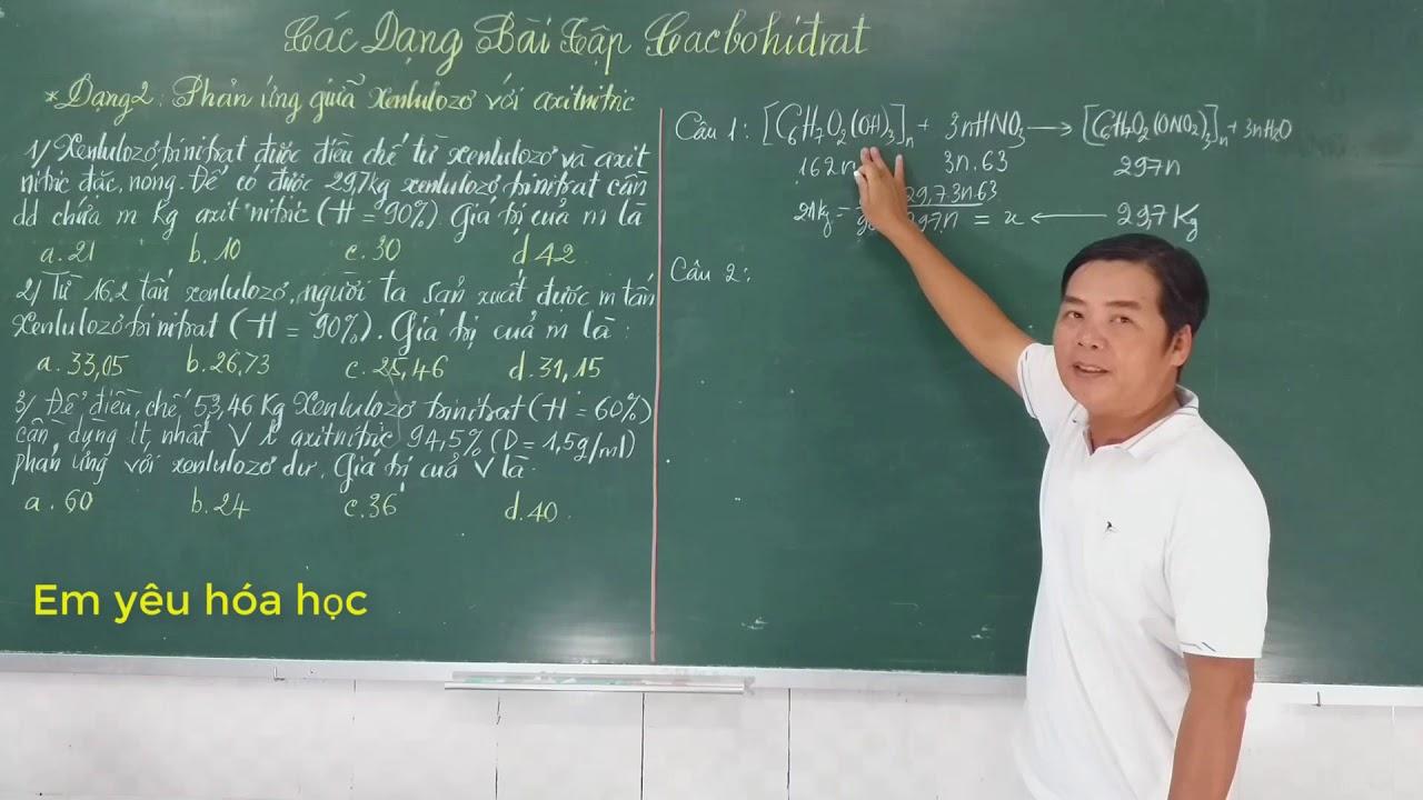 Hướng Dẫn Giải Bài Tập Về Cacbohdrat (Hóa 12)- Phần 1-Em Yêu Hóa Học