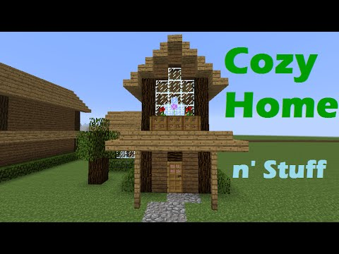 Minecraft Tutorial How To Build A Small Cozy House Cabin