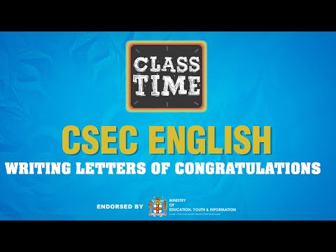 CSEC English | Writing Letters of Congratulations  - May 28 2021