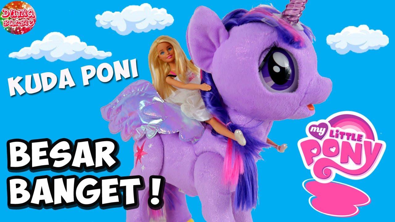 kuda poni unicorn barbie besar banget  mainan boneka my