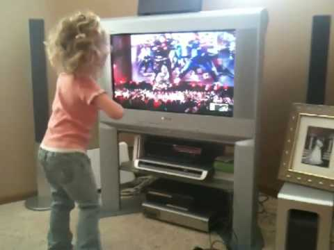 My 4 year old daughter dancing to MTV...