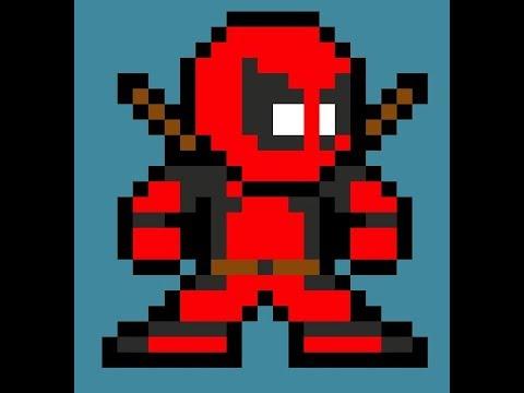 8 Bit Pixel Art Deadpool Tutorial Youtube