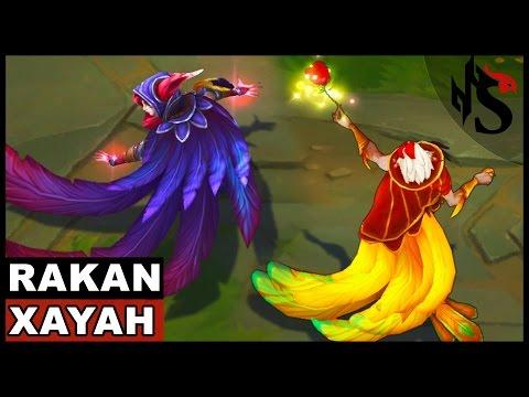 All Xayah and Rakan Skins Spotlight (League of Legends)