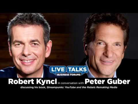 Robert Kyncl with Peter Guber at Live Talks Los Angeles