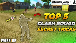 TOP 5 NEW CLASH SQUAD TRICKS IN FREE FIRE- SAMSUNG,A3,A5,A6,A7,J2,J5,J7,S5,S6,S7,S9,A10,A20,A30,FF