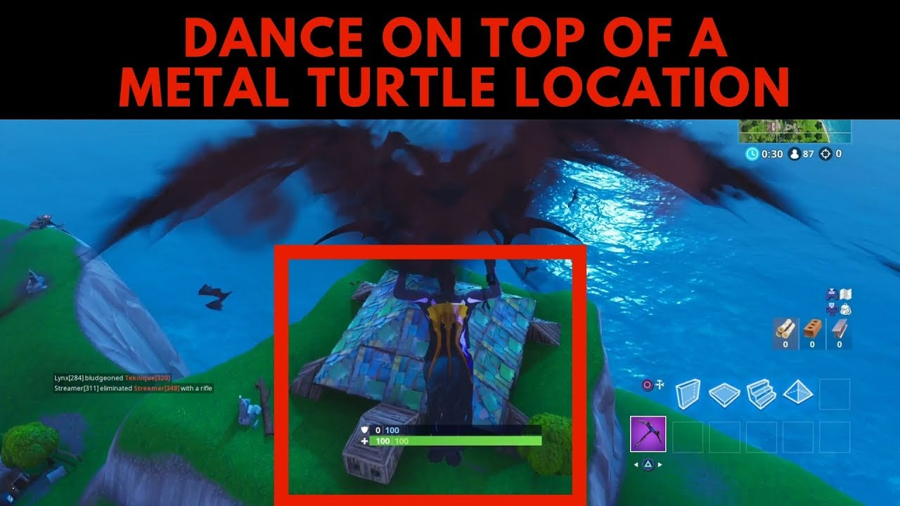 Dance On Top Of A Metal Turtle Location Season 7 Fortnite Battle