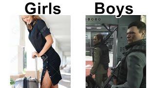 BOYS VS GIRLS MEMES