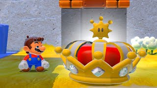 What happens when Maŗio collects the King Crown Power Up in Bowser's Fury?